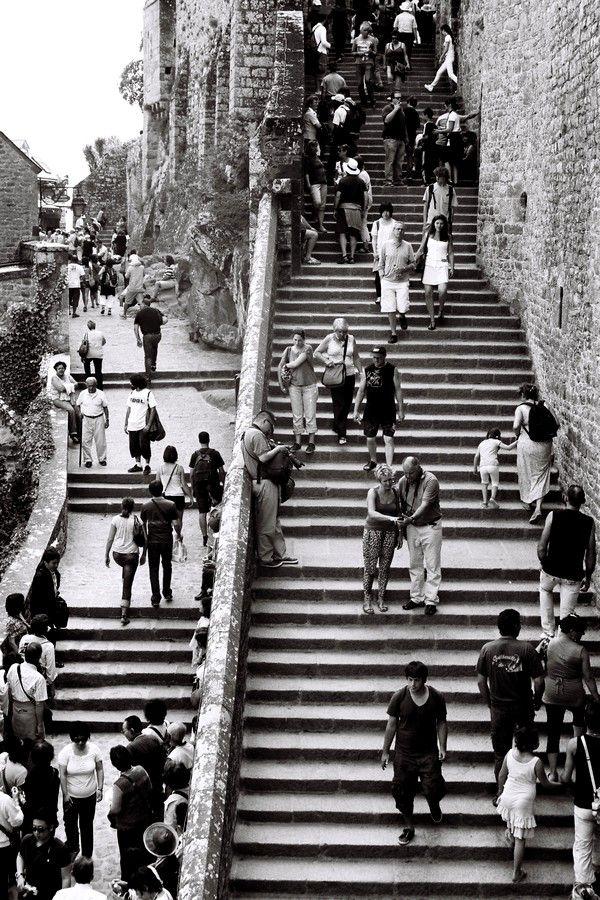 Les escalliers Mt St Michel
