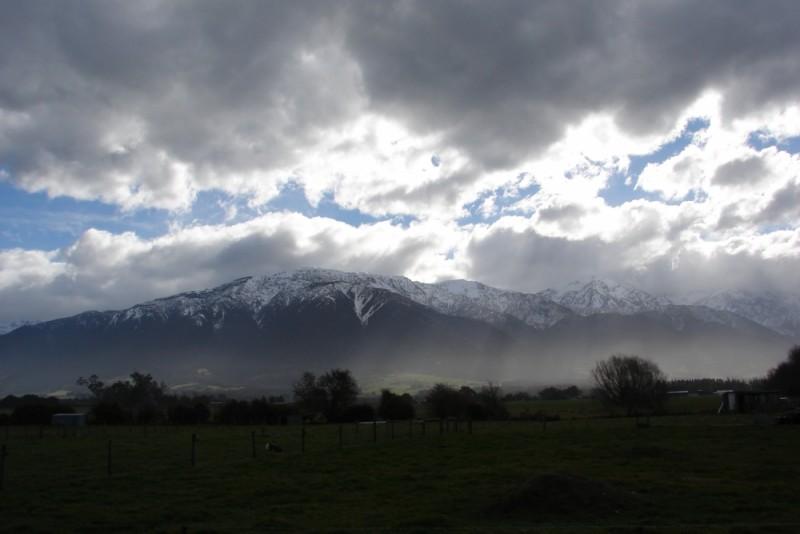 towards the kaikouras storm approaching