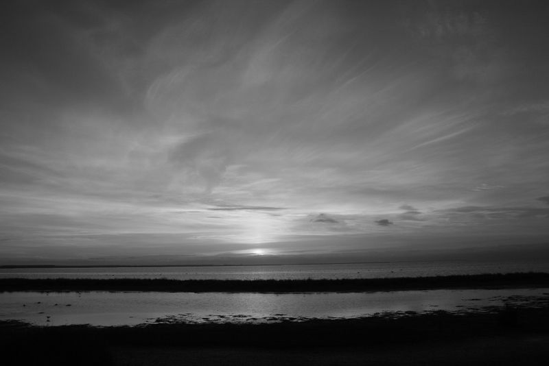 B&W Sunset