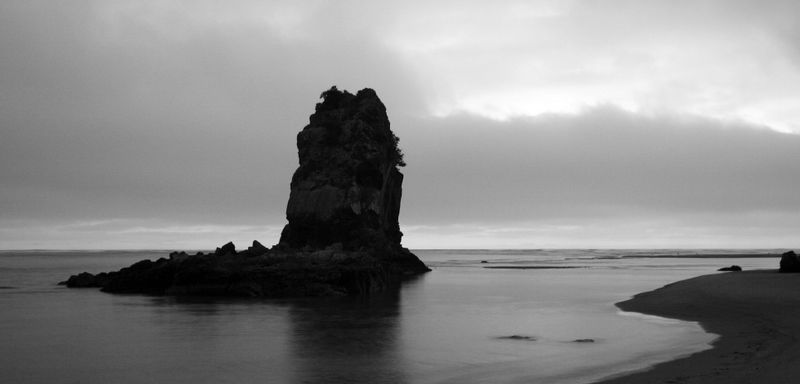 B&W Shag Rock at dawn.