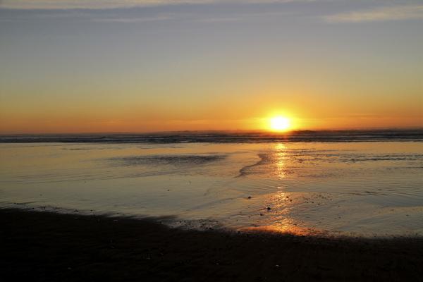 Sunrising at the Ashley beach.