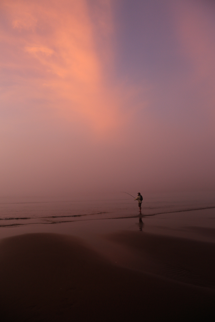 Fisherman in pink