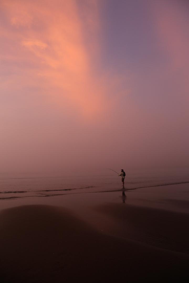 Fisherman in pink