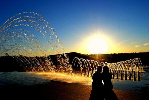 sunset at sydney olympic park