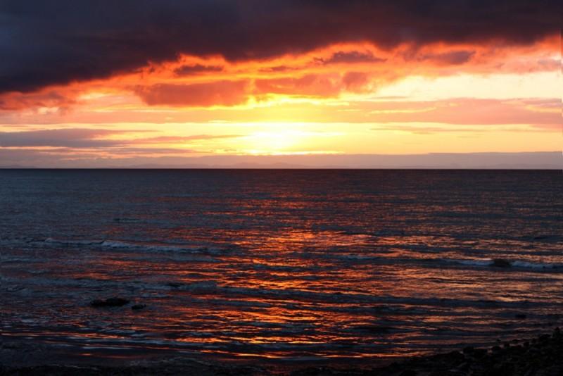 The Sun setting at Port Gordon - Moray Coast
