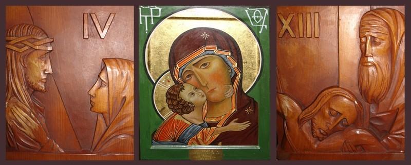 Icons in Italian Chapel, Orkney.