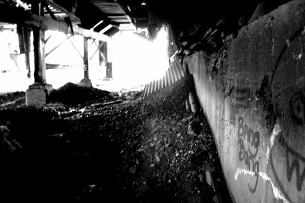 Inside abandoned coal breaker near where I live.