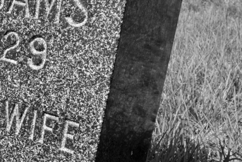 Someone's headstone.