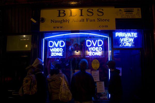 Porn shop in Dublin