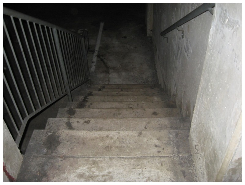 Another dirty stairway