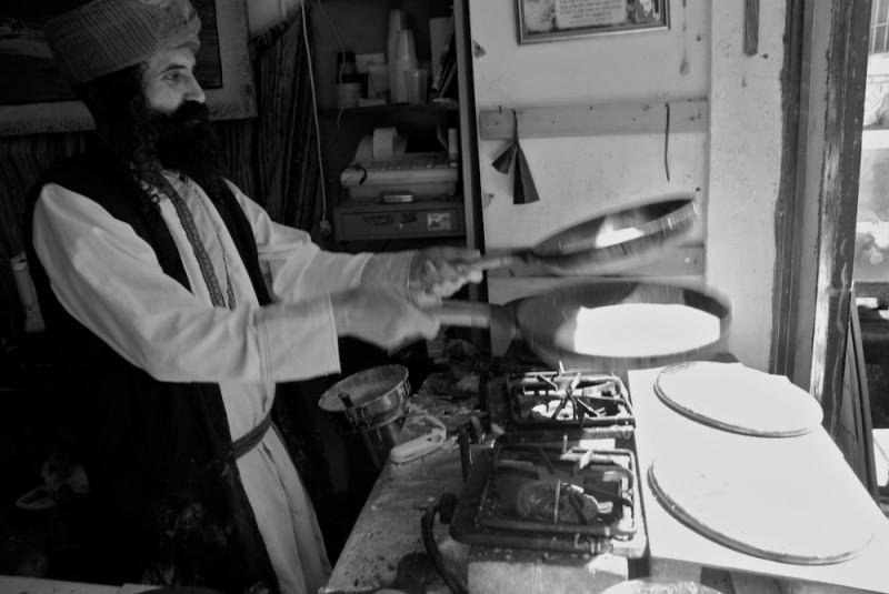 Yemenese Man Preparing Food- Tzfat, Israel