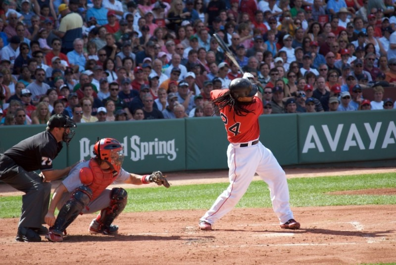 Red-Sox Outfielder Manny Ramirez at Bat