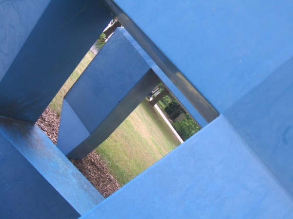 A piece of art on the Temple Ambler campus