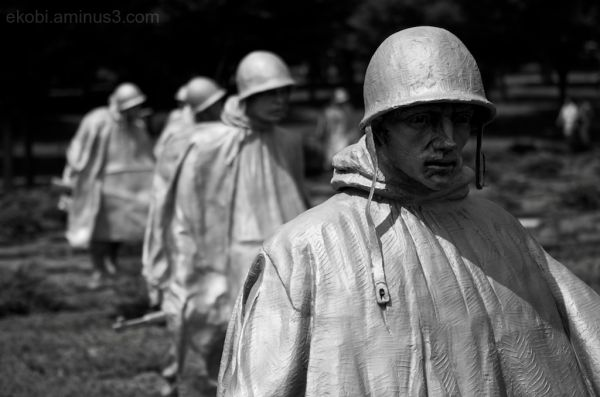 Shell-shocked, Korean War Veterans Memorial DC