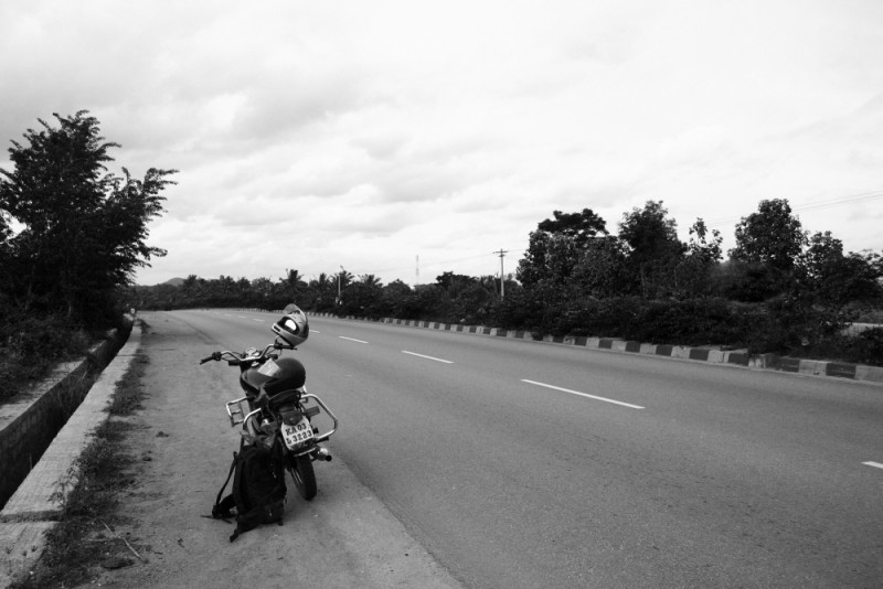 Royal Enfield Bullet on Indian Highways