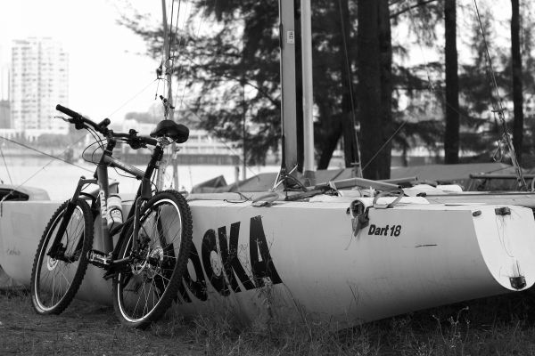 Mountain Bike and Sailboat