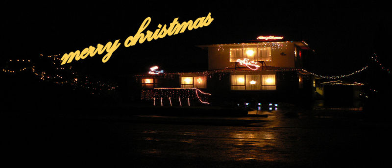 the lights are up now waiting fot the big fat man