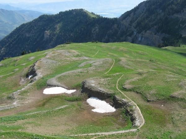 hiking trail to mount timpanogos in utah