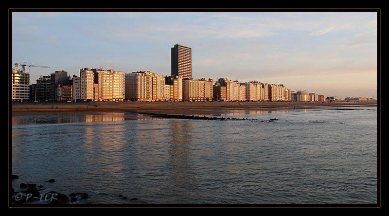 golden town Oostende Belgium sea North-sea