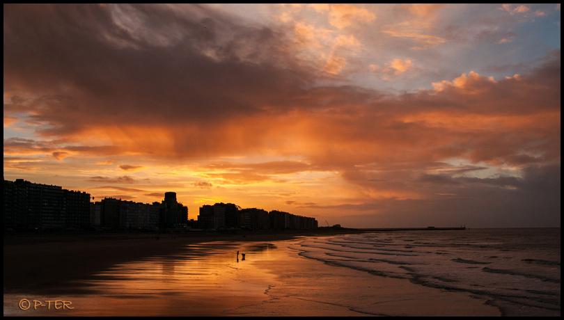 strand zee noordzee beach north sea zonsondergang