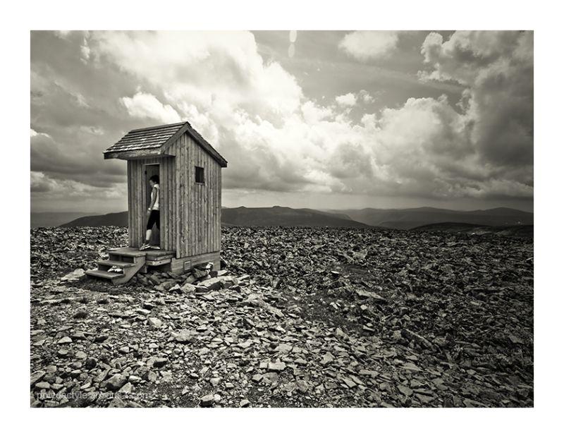 Toilette au sommet