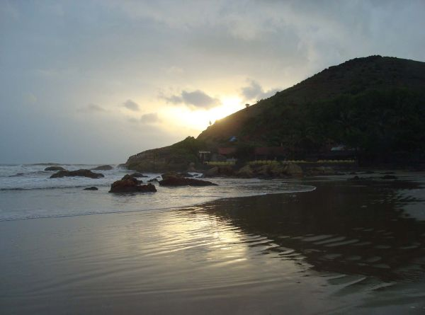 sun set at Gokarna