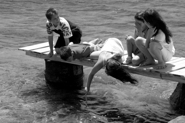 Children Playing on the Dock