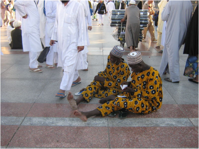 African pilgrims at Madinah