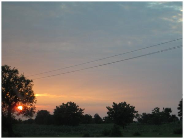 tropical sun set