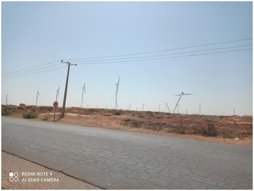Modern wind mills near Katsina Nigeria
