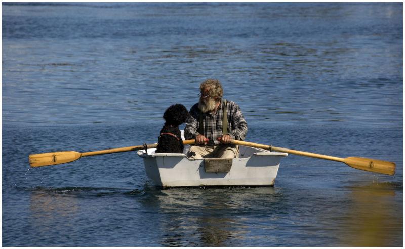 Maine boatman and friend