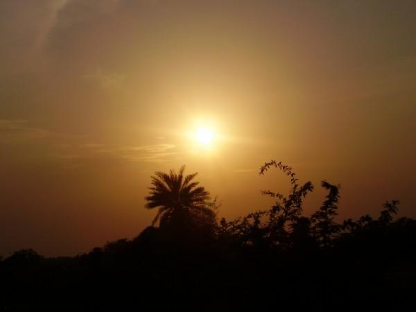 Sunset at Kodad, India