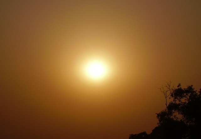 sunset, sun, india, delhi, india gate