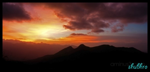 Kodai Sunset colours