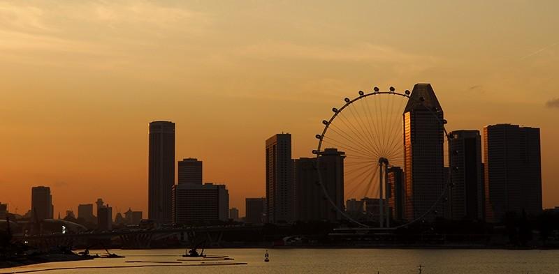 Sunset from Marina Barrage