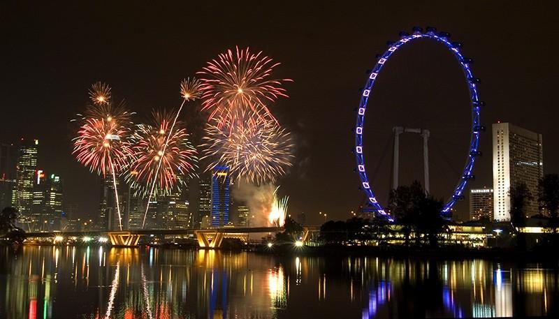 Singapore Fireworks Celebration '08 - 22nd Aug