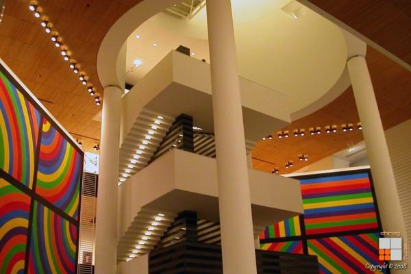 Colorful Lobby at MOMA