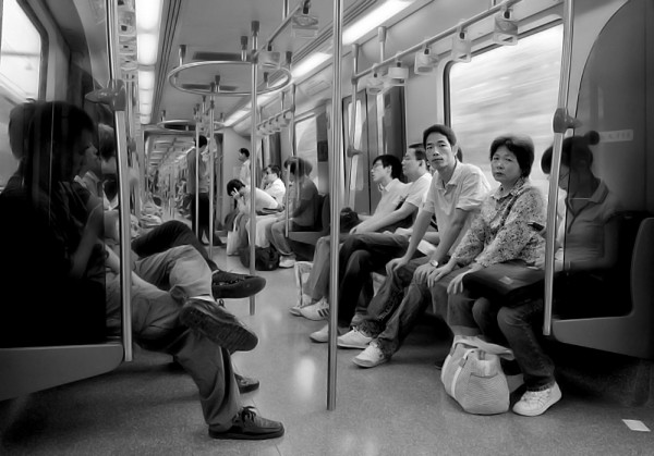On Shanghai's metro system