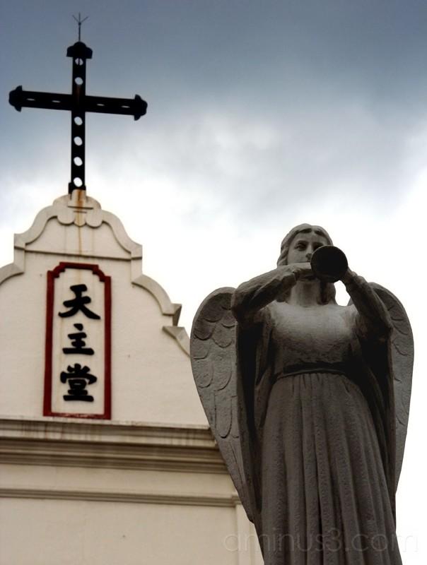 Angel and cross