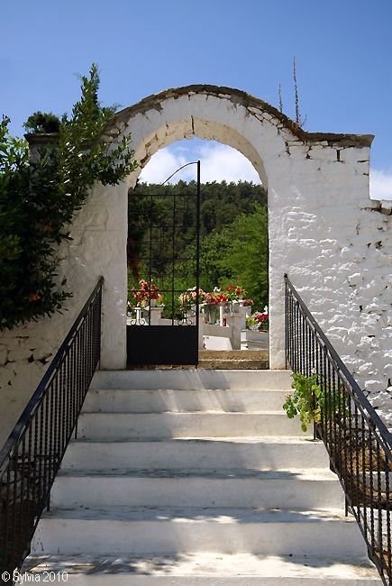 Stairway to heaven - graveyard, Thassos, Greece