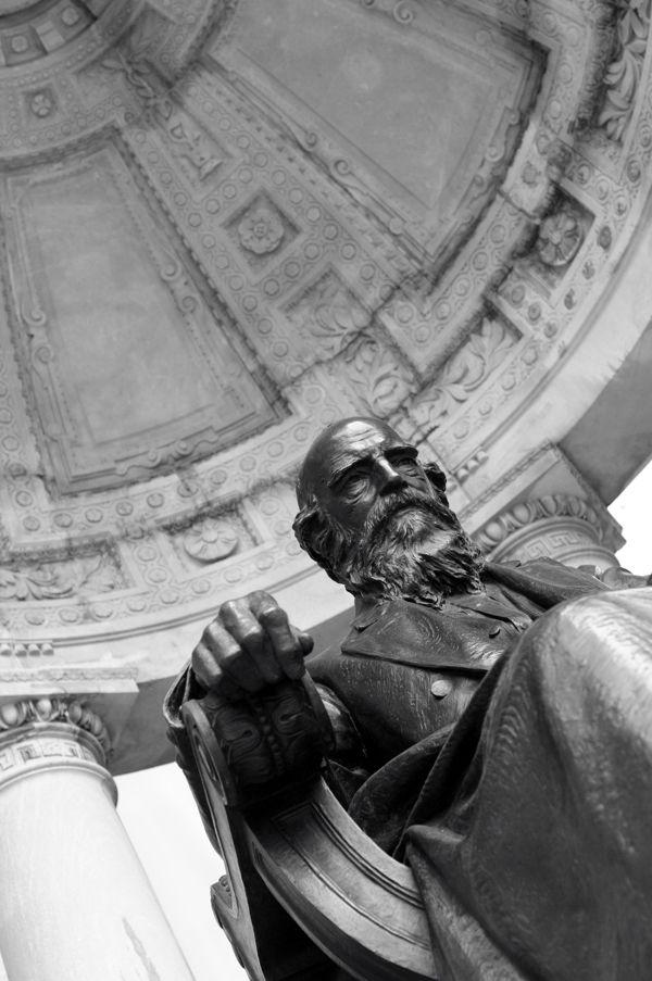 William Cullen Bryant statue in...Bryant Park.
