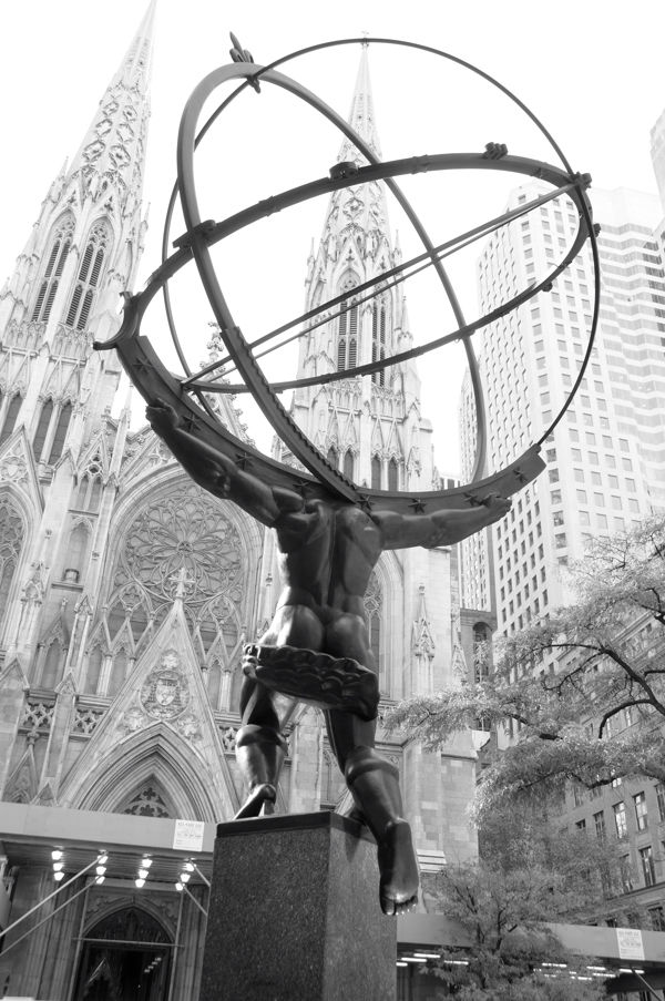 Atlas holding up the world...waiting for Hercules