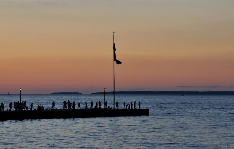 Sunset Lake Erie