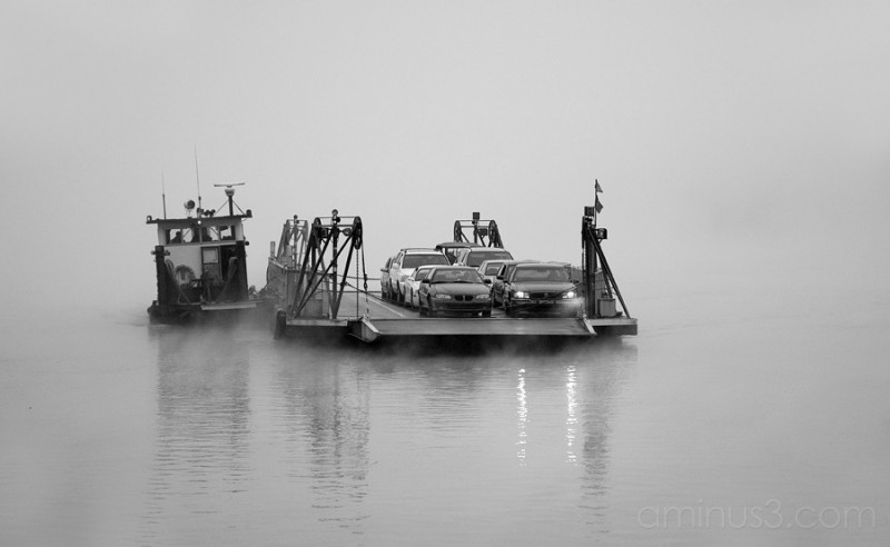 Anderson Ferry, Ohio River, From the Fog