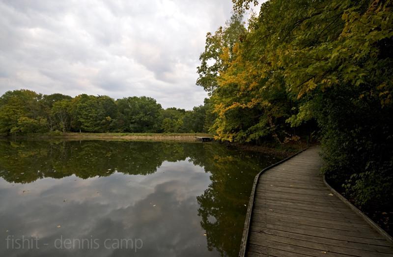Wooden Lake Walkway