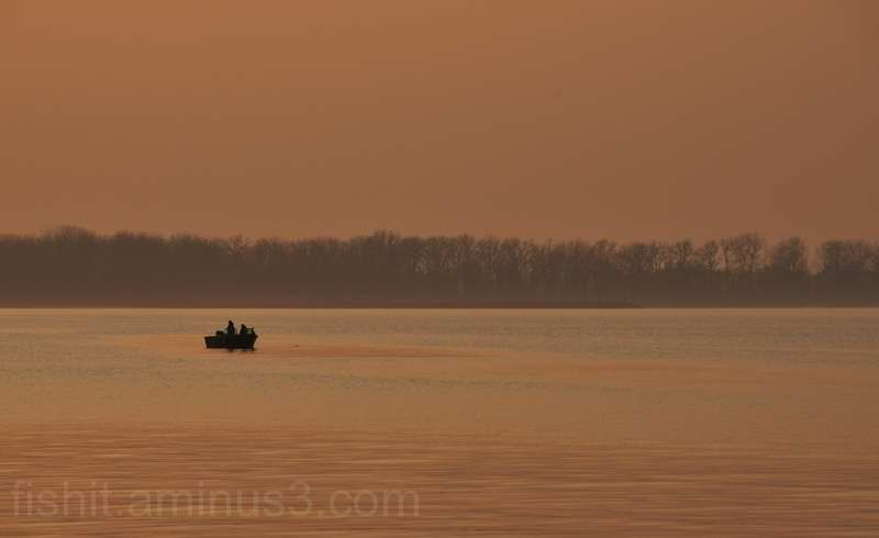 Perch Fishing Sunset