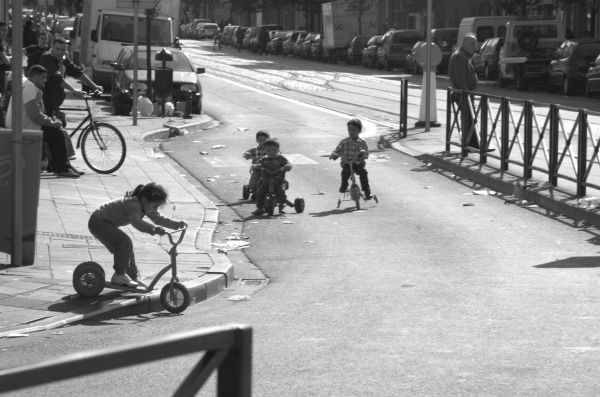 Kids on Bikes in the Street