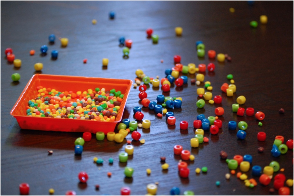 Spilled beads and nerds