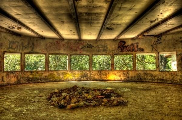 A derelict Holiday Village