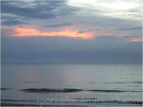 sunset over suthern sky